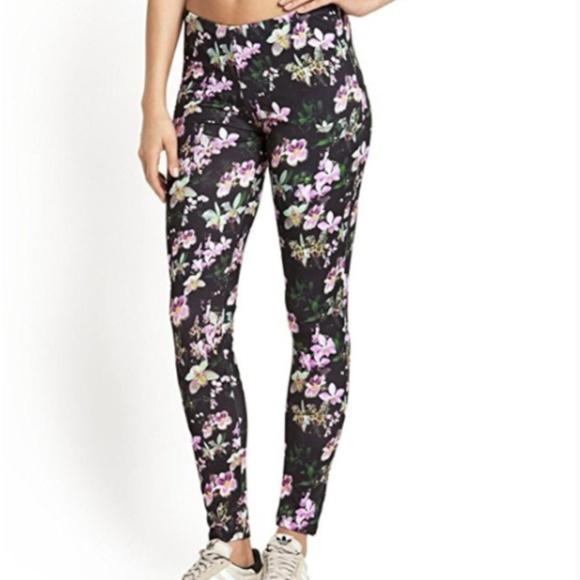 b2c34f83009ea adidas Pants   Originals Orchid Flower Print Leggings   Poshmark